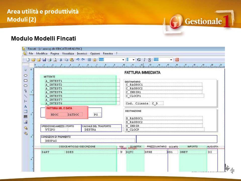Area utilità e produttività Moduli (2)