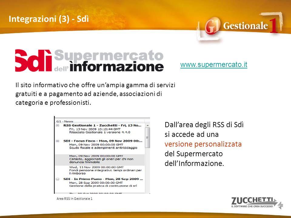 Integrazioni (3) - Sdì www.supermercato.it. Il sito informativo che offre un'ampia gamma di servizi.