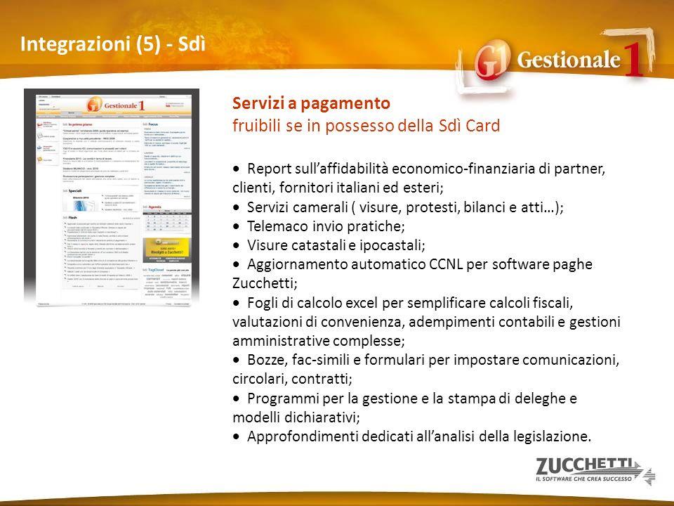 Integrazioni (5) - Sdì Servizi a pagamento