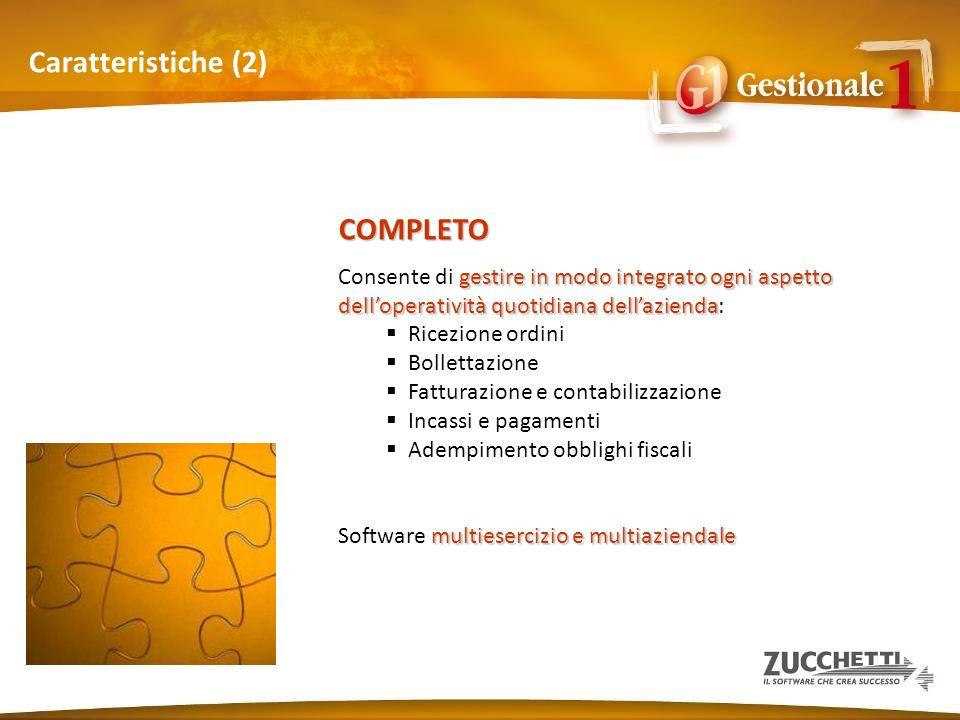 Caratteristiche (2) COMPLETO