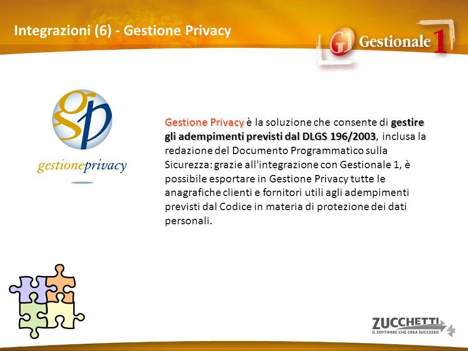 Integrazioni (6) - Gestione Privacy