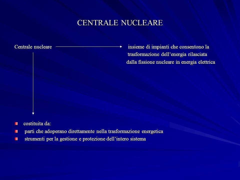 CENTRALE NUCLEARE Centrale nucleare insieme di impianti che consentono la.