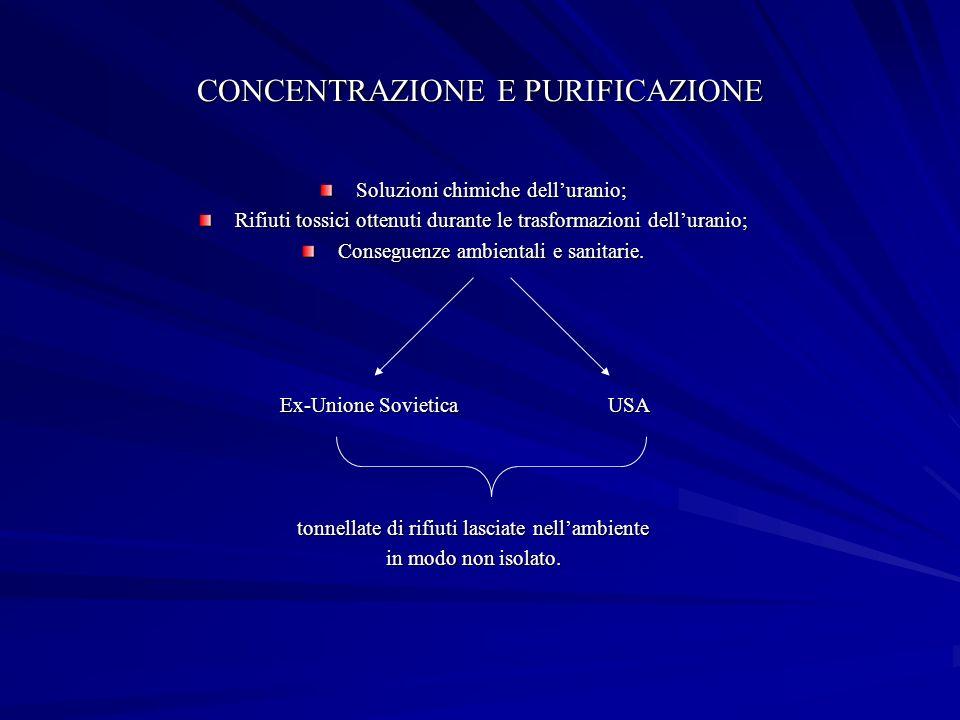 CONCENTRAZIONE E PURIFICAZIONE