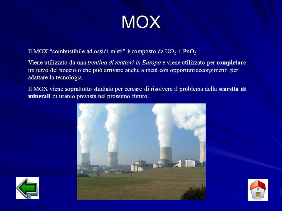 MOX Il MOX combustibile ad ossidi misti è composto da UO2 + PuO2.