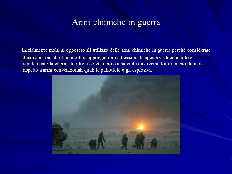 Armi chimiche in guerra