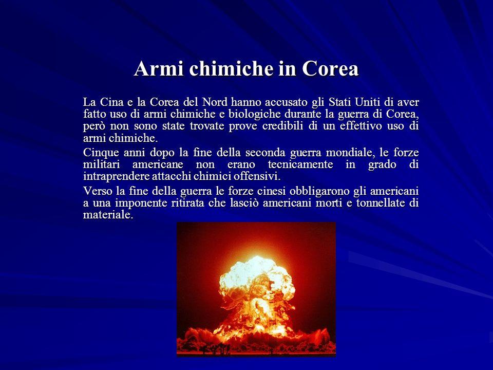 Armi chimiche in Corea