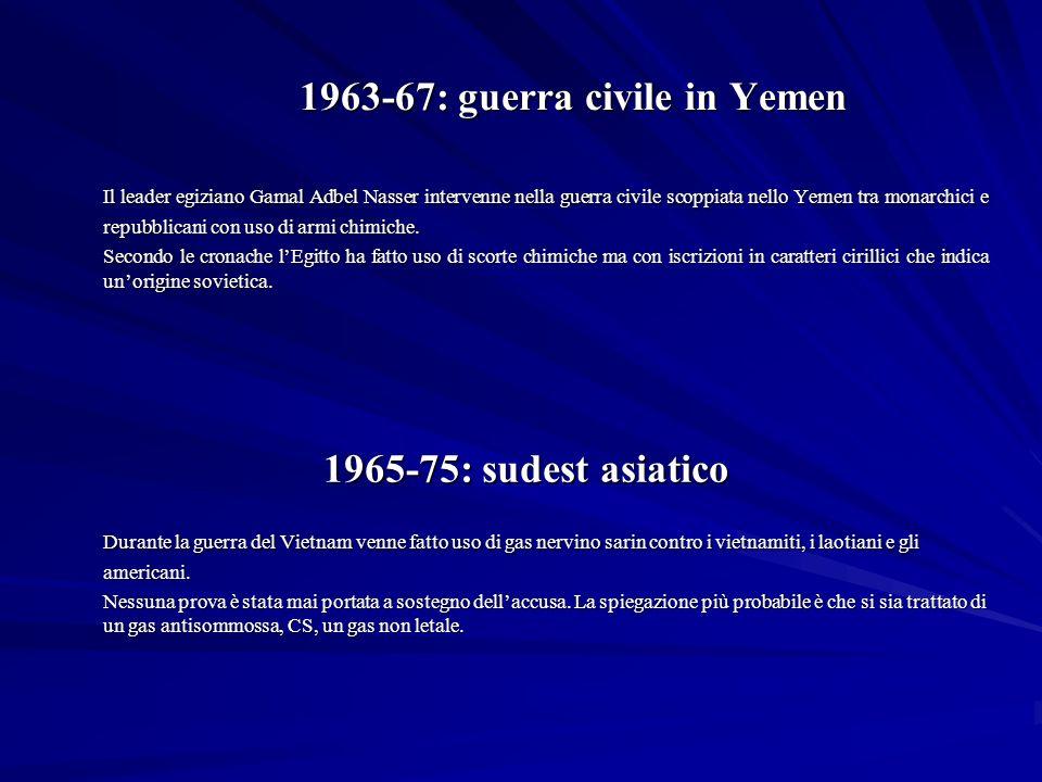 1963-67: guerra civile in Yemen