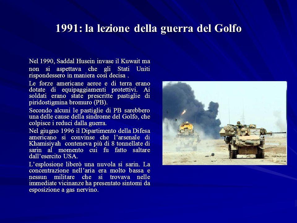 1991: la lezione della guerra del Golfo