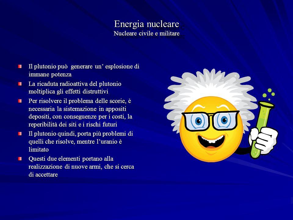 Energia nucleare Nucleare civile e militare