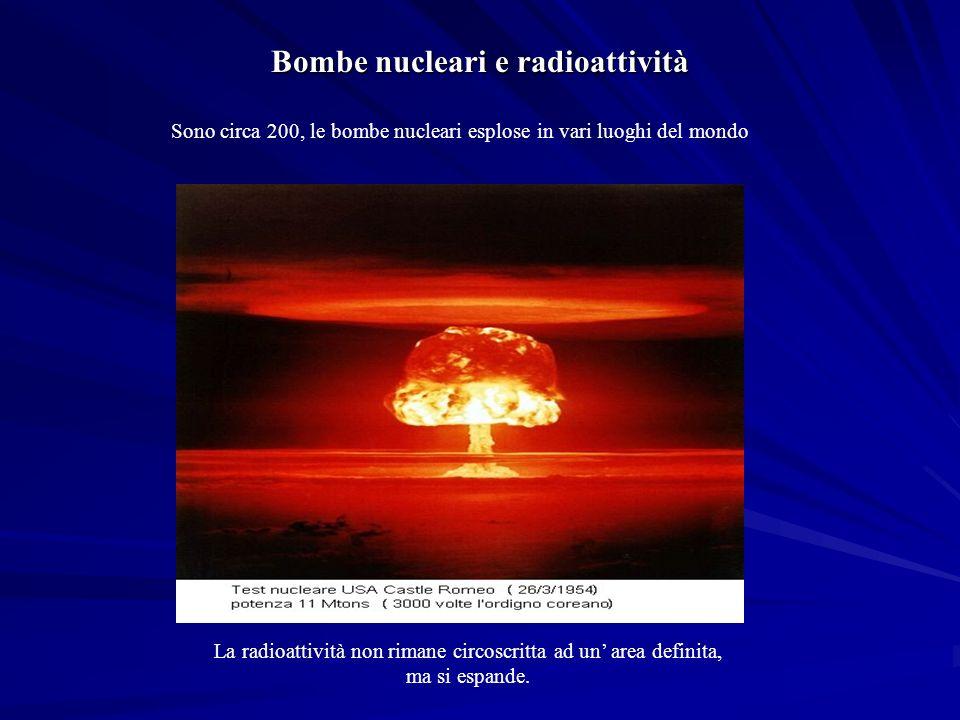 Bombe nucleari e radioattività