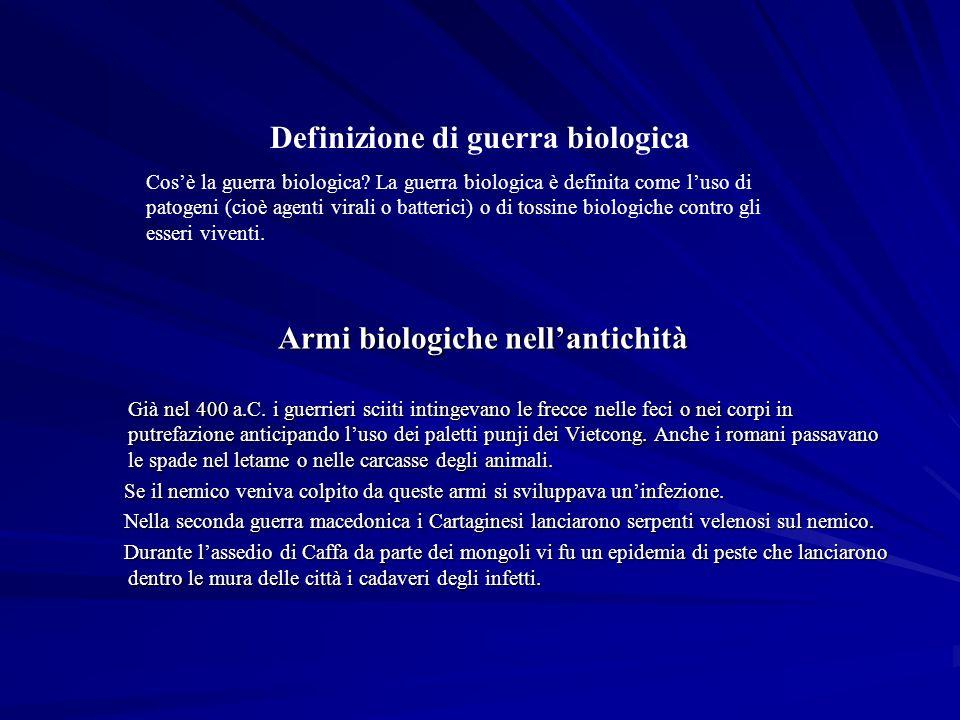Armi biologiche nell'antichità