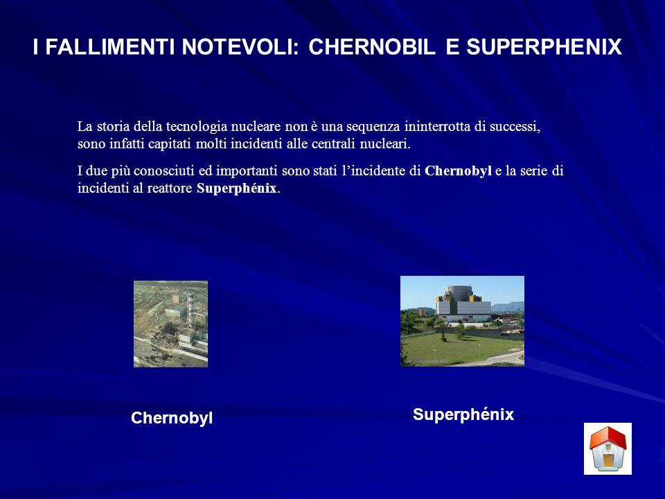 I FALLIMENTI NOTEVOLI: CHERNOBIL E SUPERPHENIX