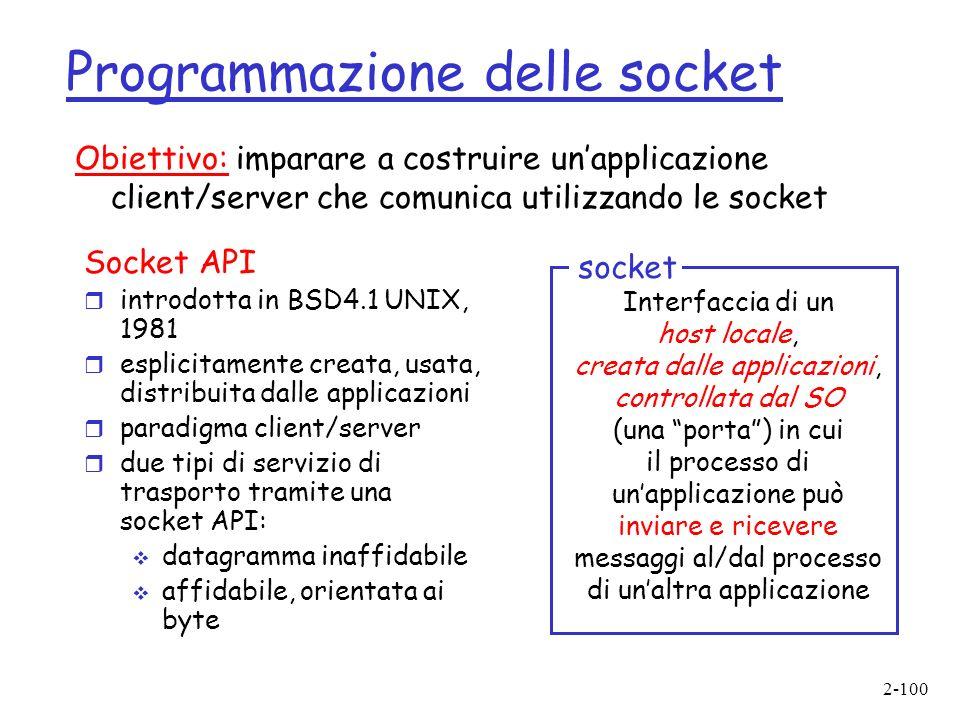 Programmazione delle socket