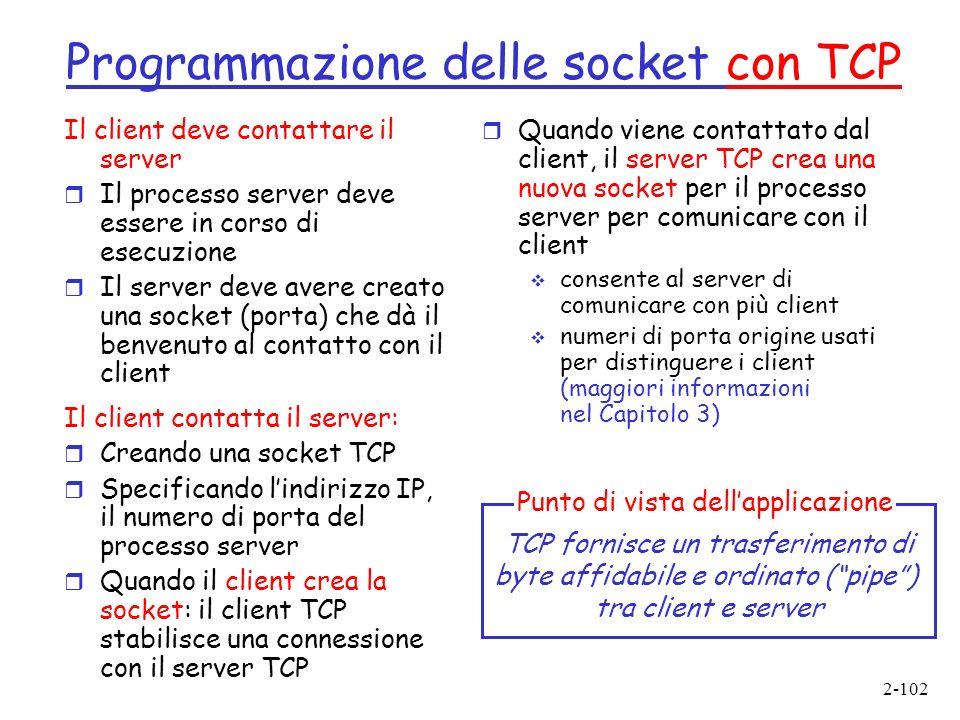 Programmazione delle socket con TCP