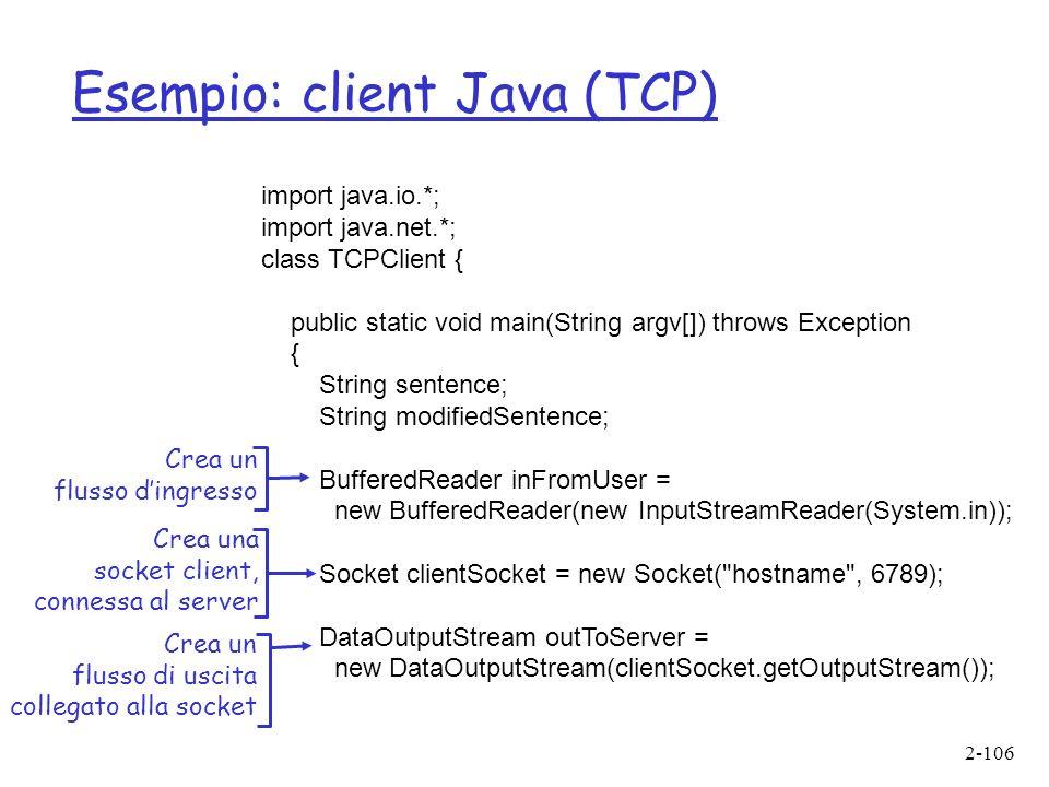 Esempio: client Java (TCP)