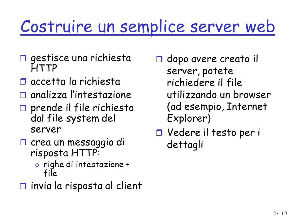Costruire un semplice server web