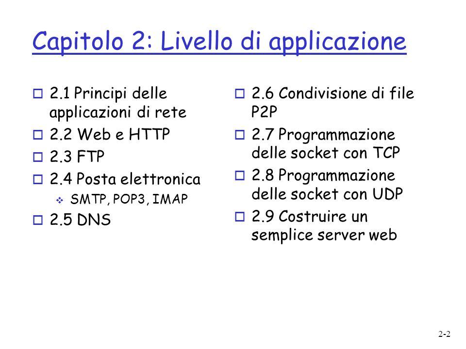 Capitolo 2: Livello di applicazione