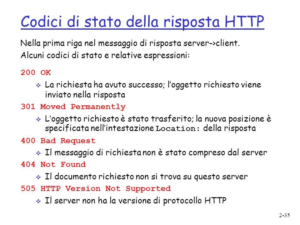 Codici di stato della risposta HTTP
