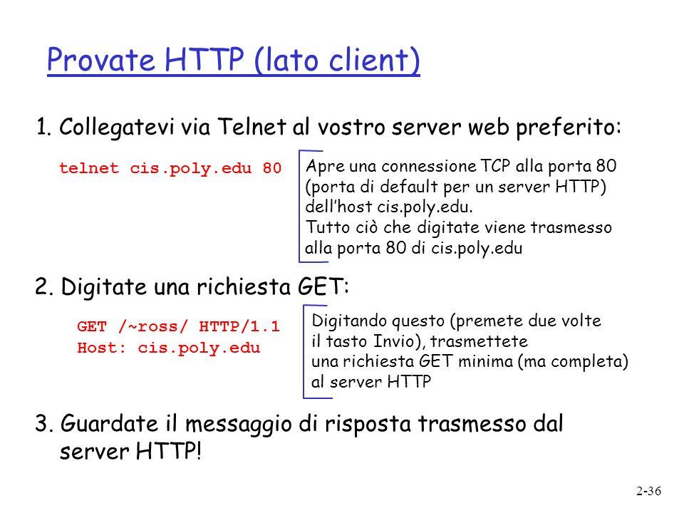 Provate HTTP (lato client)