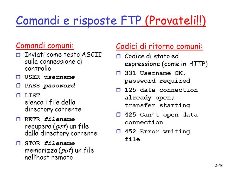 Comandi e risposte FTP (Provateli!!)