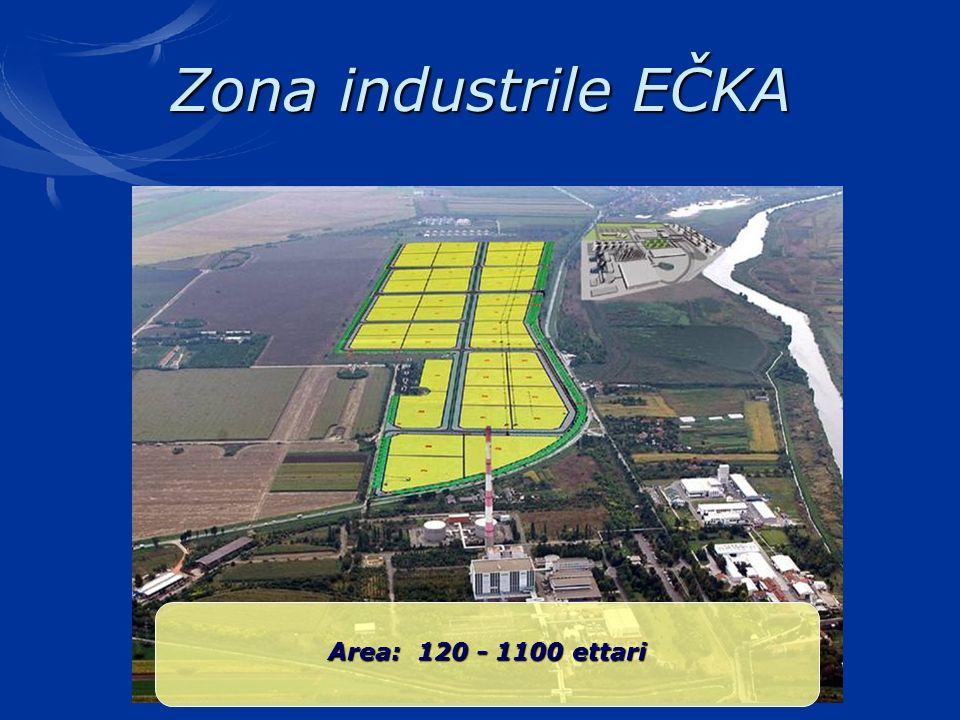 Zona industrile EČKA Area: 120 - 1100 ettari