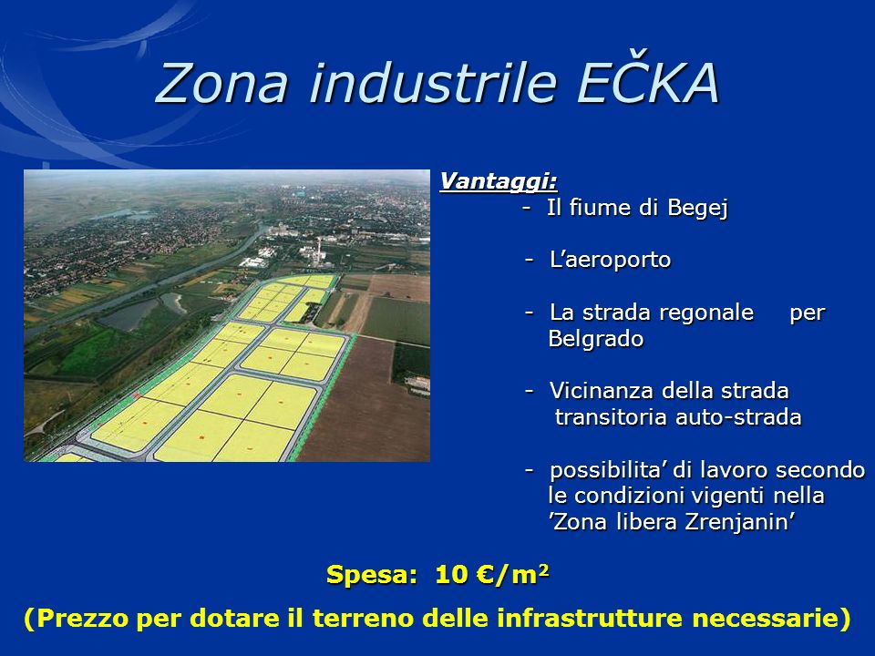 (Prezzo per dotare il terreno delle infrastrutture necessarie)