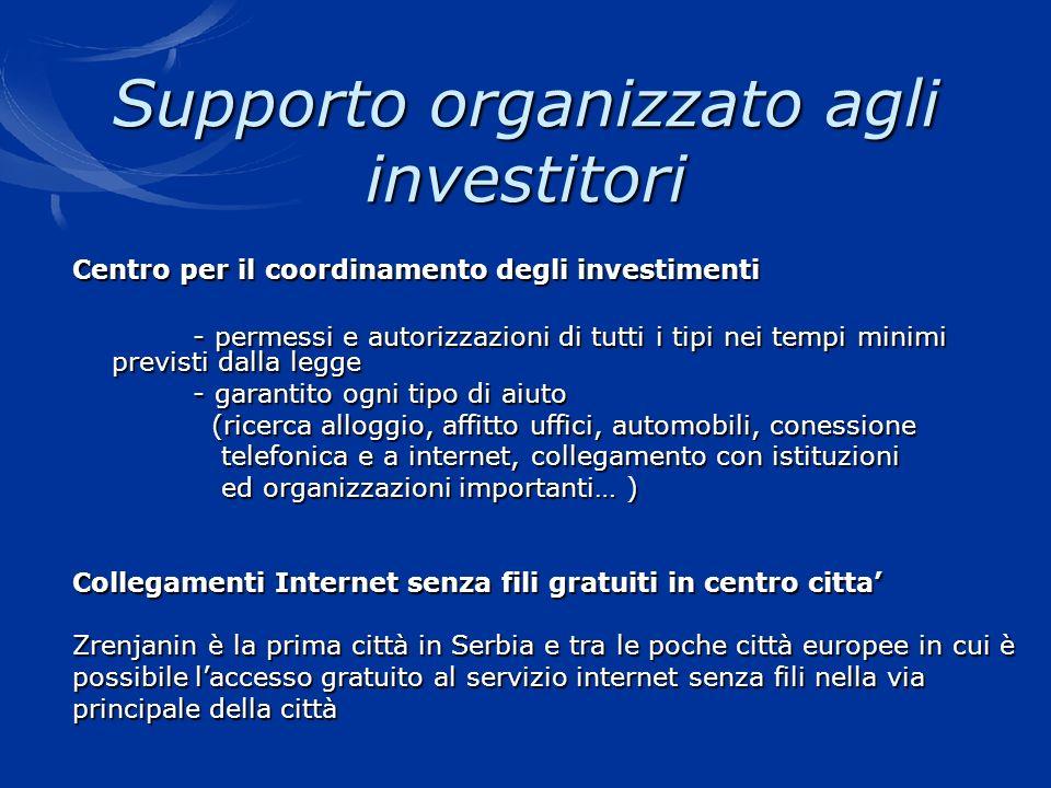 Supporto organizzato agli investitori