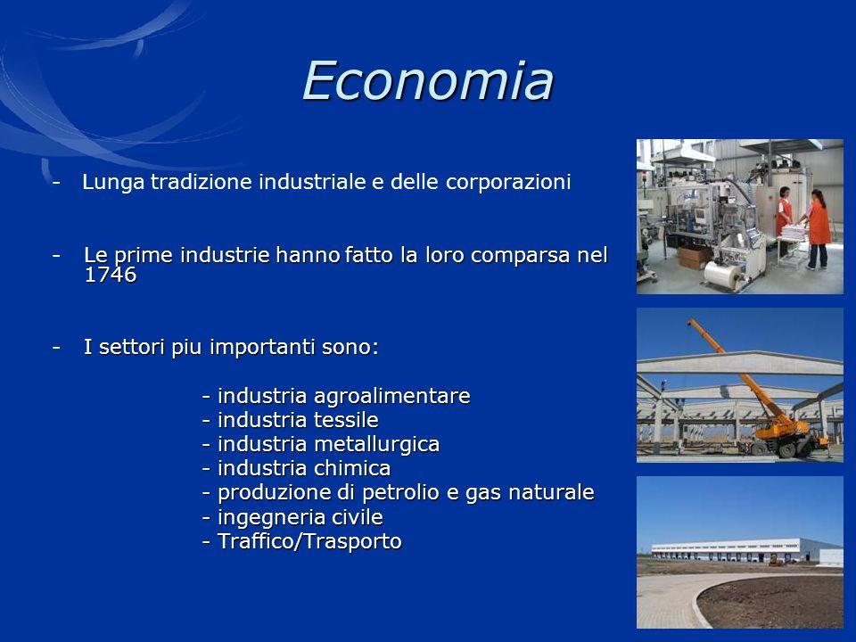 Economia - Lunga tradizione industriale e delle corporazioni