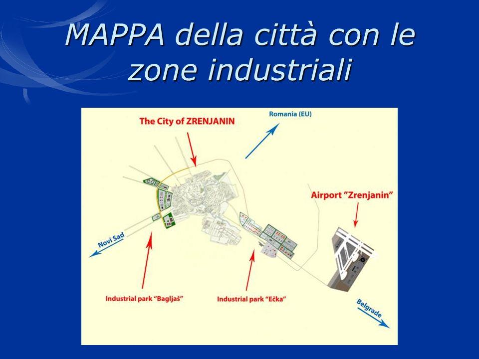 MAPPA della città con le zone industriali