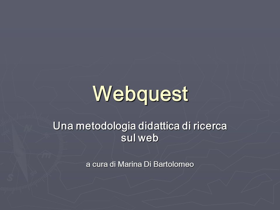 Una metodologia didattica di ricerca sul web