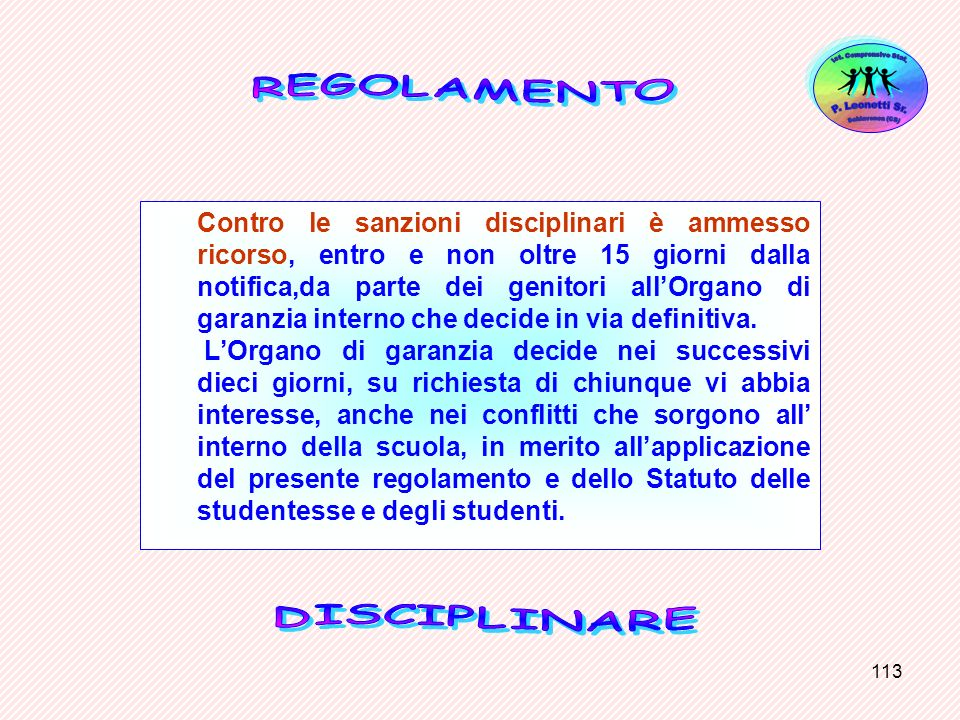 Ist. Comprensivo Stat. Schiavonea (CS) P. Leonetti Sr. REGOLAMENTO.