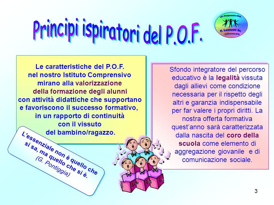 Le caratteristiche del P.O.F. nel nostro Istituto Comprensivo