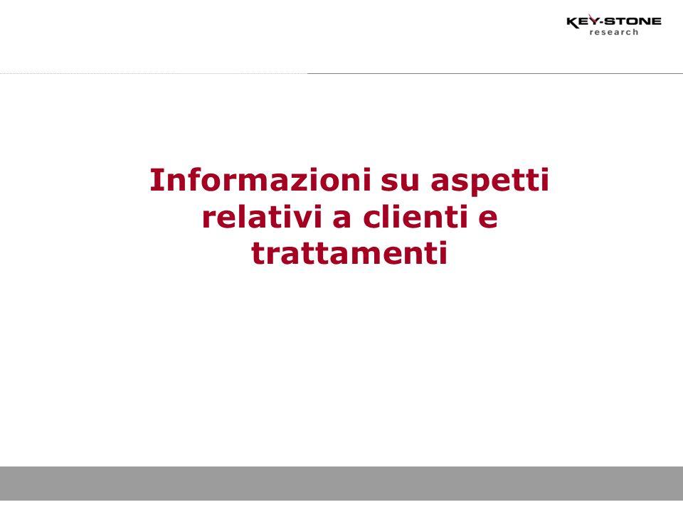 Informazioni su aspetti relativi a clienti e trattamenti