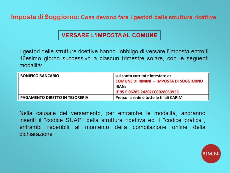 Stunning Imposta Di Soggiorno Rimini Photos - Idee Arredamento Casa ...