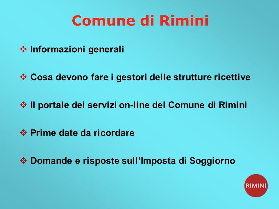 Emejing Imposta Di Soggiorno Rimini Ideas - Idee Arredamento Casa ...