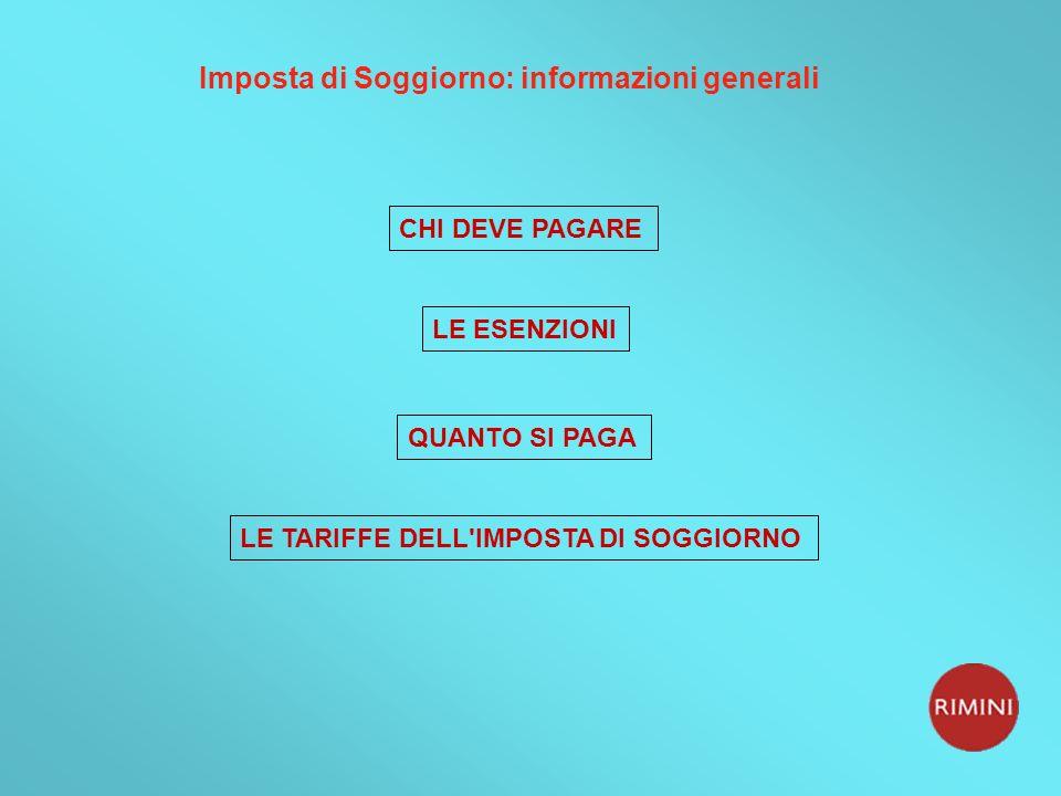 Imposta di Soggiorno: informazioni generali
