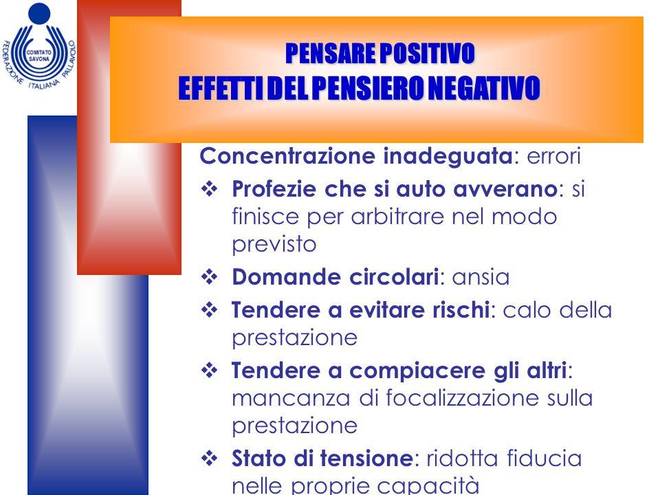 PENSARE POSITIVO EFFETTI DEL PENSIERO NEGATIVO