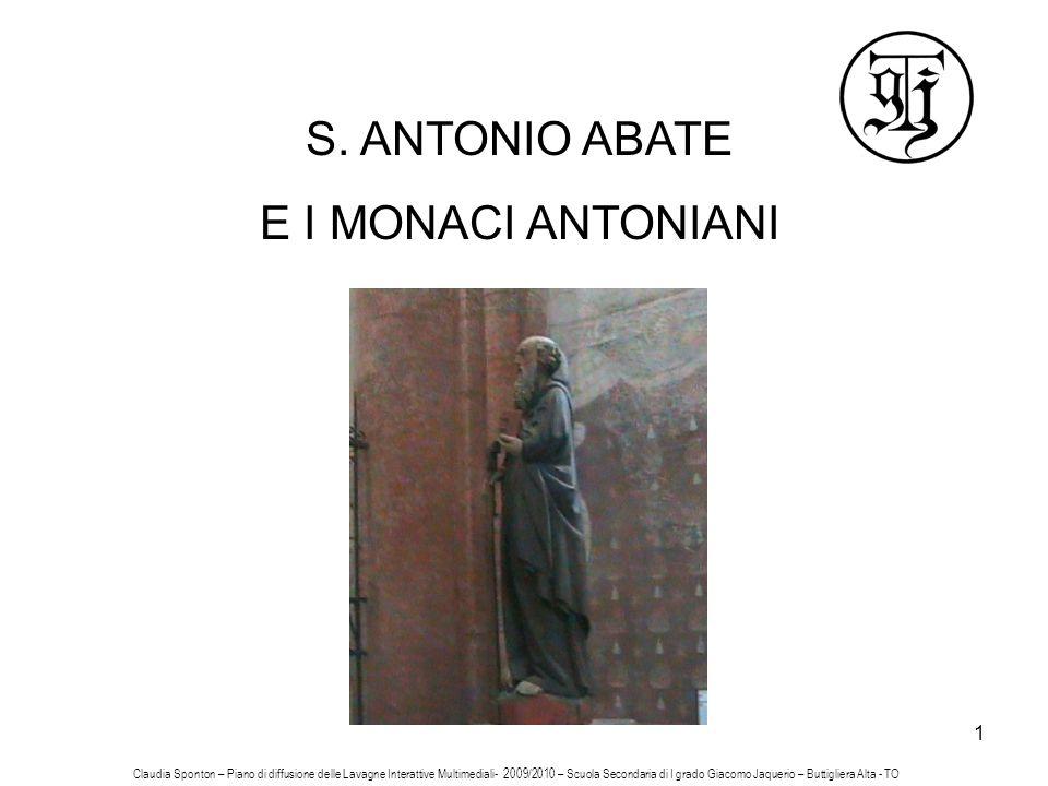 S. ANTONIO ABATE E I MONACI ANTONIANI