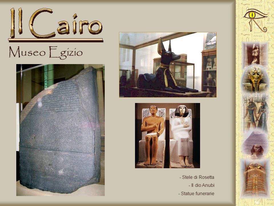 Il Cairo Museo Egizio Stele di Rosetta Il dio Anubi Statue funerarie