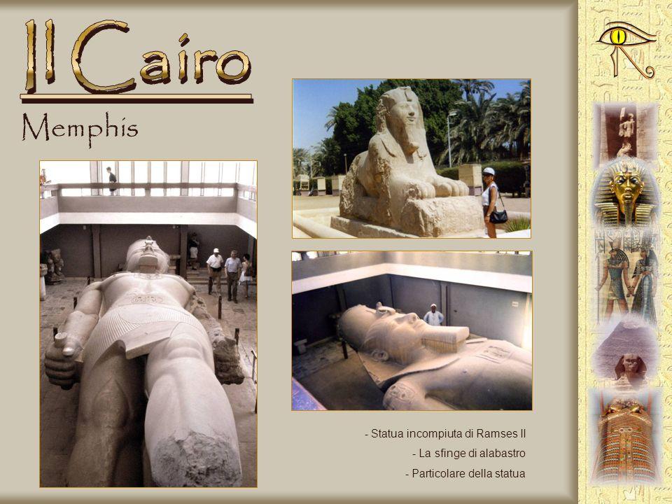 Il Cairo Memphis Statua incompiuta di Ramses II La sfinge di alabastro