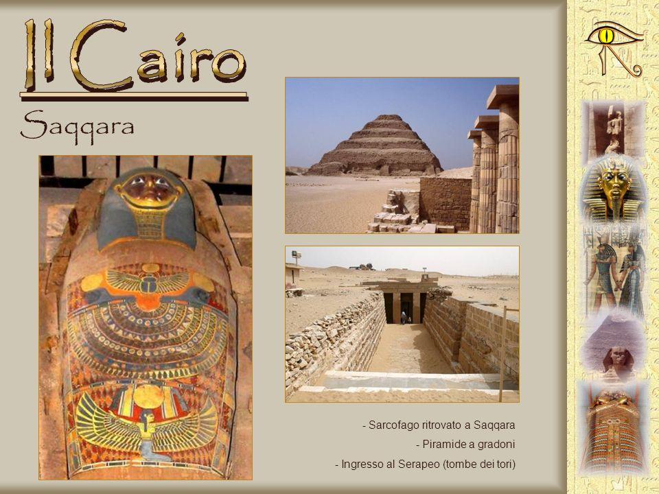 Il Cairo Saqqara Sarcofago ritrovato a Saqqara Piramide a gradoni