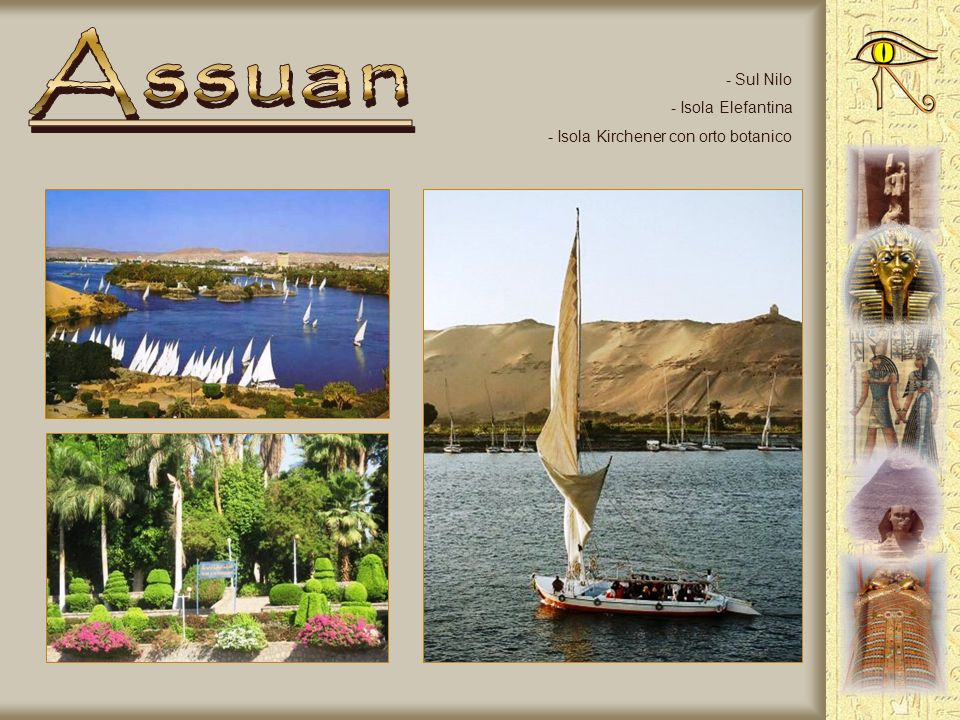Assuan Sul Nilo Isola Elefantina Isola Kirchener con orto botanico