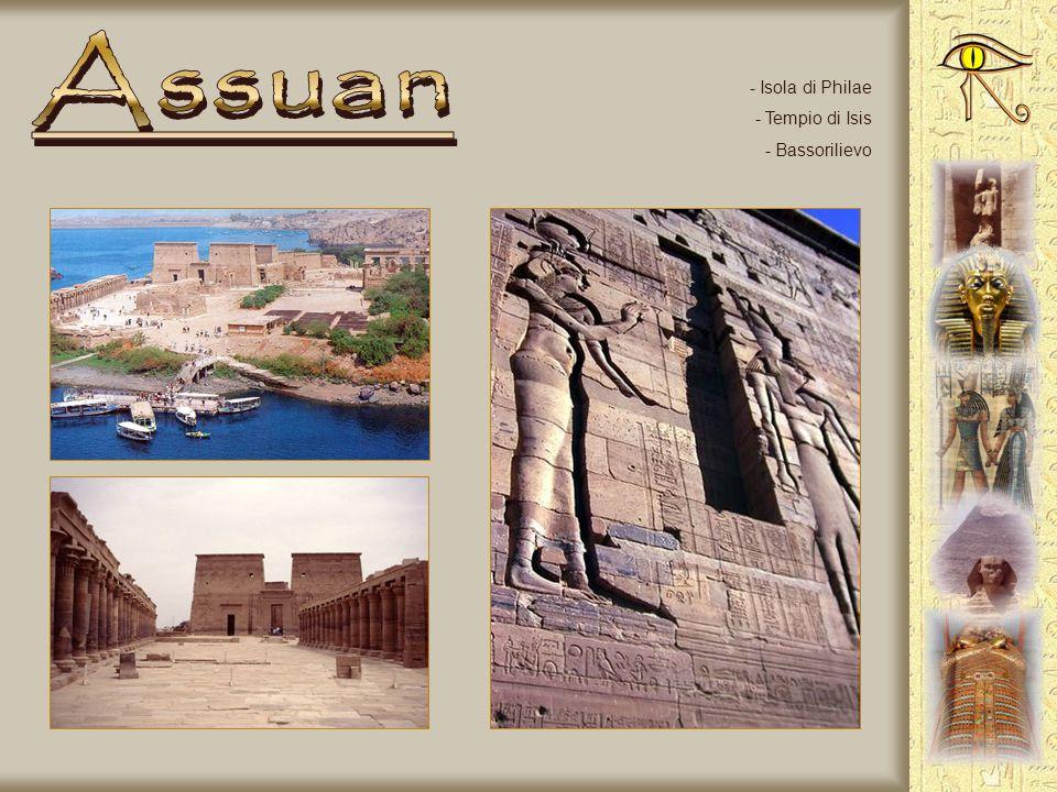 Assuan Isola di Philae Tempio di Isis Bassorilievo