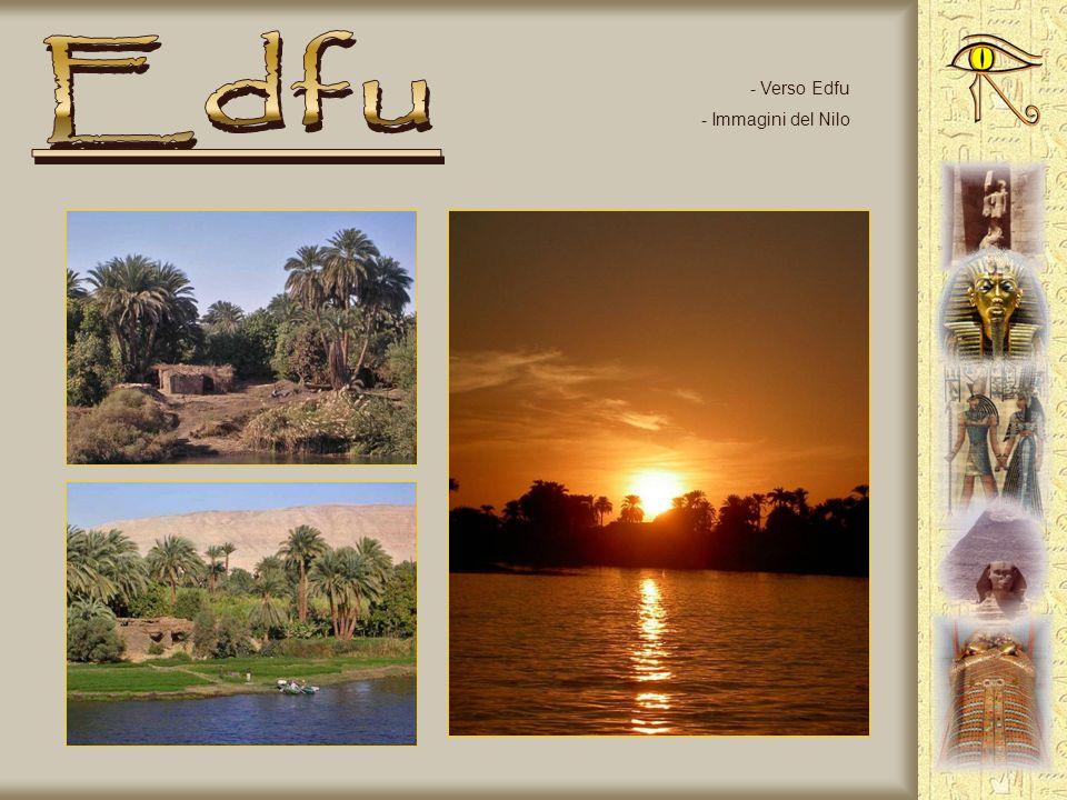 Edfu Verso Edfu Immagini del Nilo