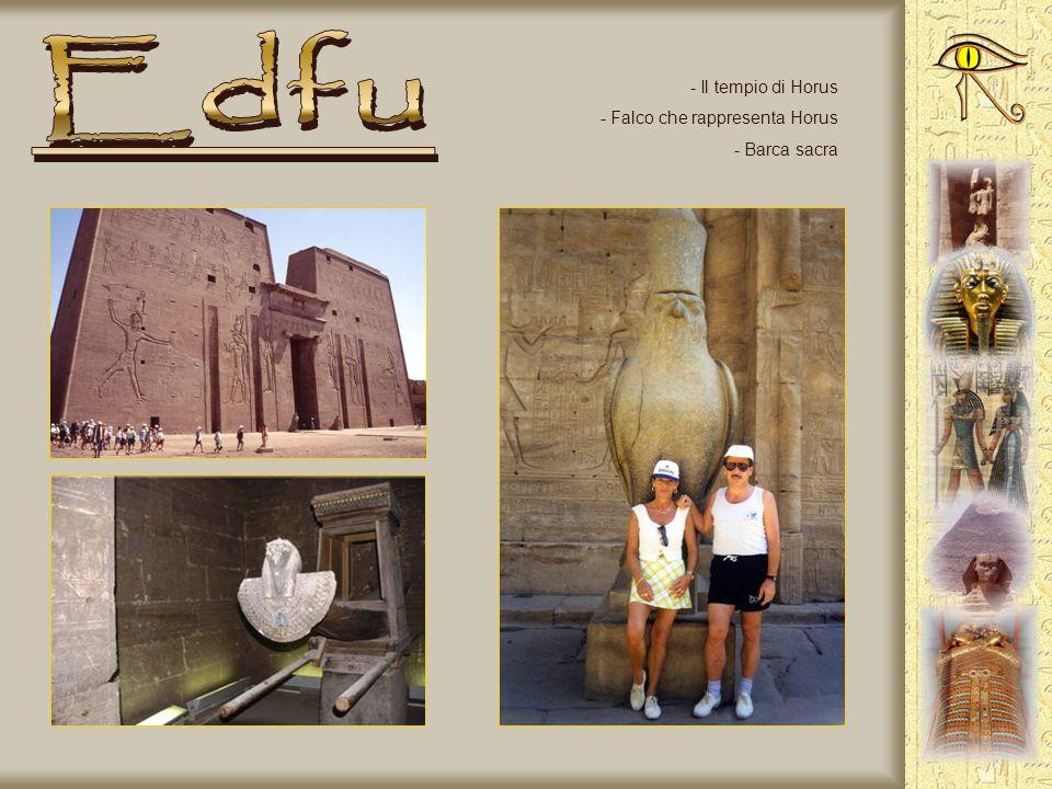 Edfu Il tempio di Horus Falco che rappresenta Horus Barca sacra