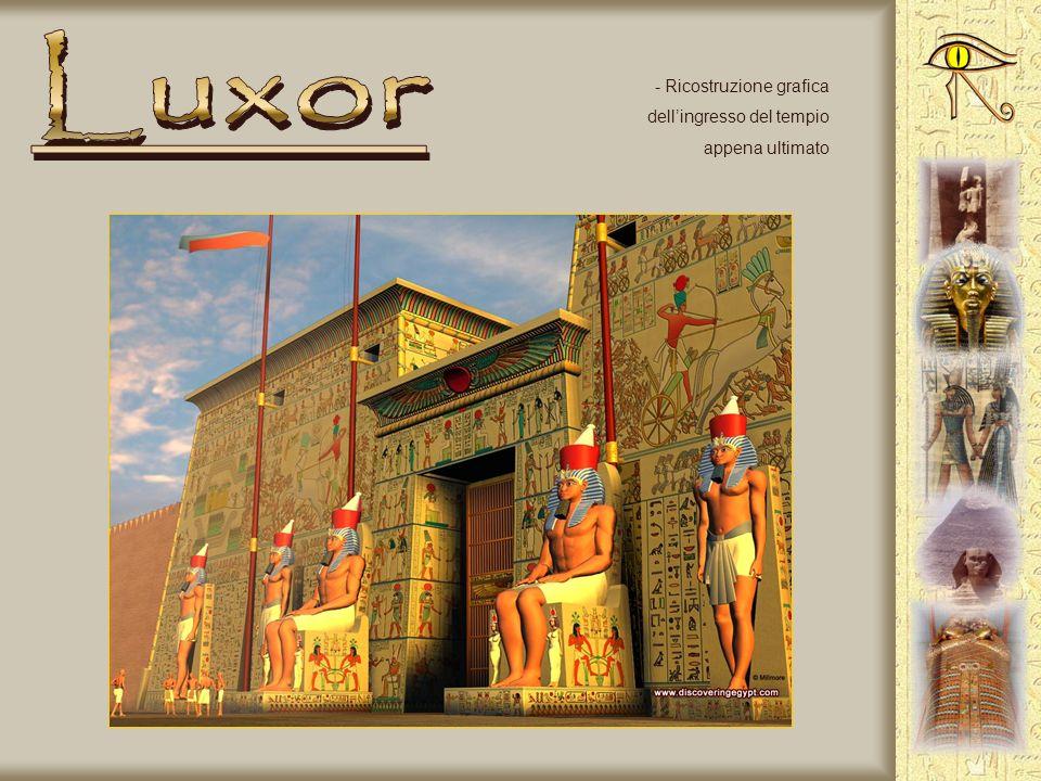 Luxor Ricostruzione grafica dell'ingresso del tempio appena ultimato