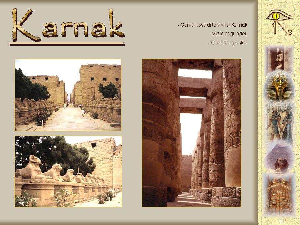Karnak Complesso di templi a Karnak Viale degli arieti