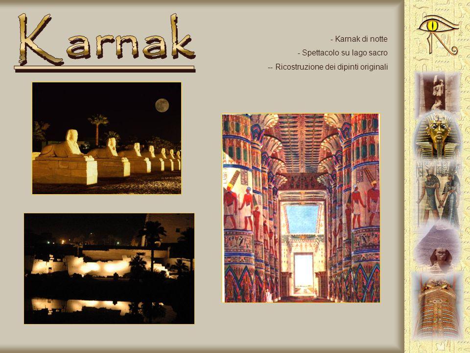 Karnak Karnak di notte Spettacolo su lago sacro
