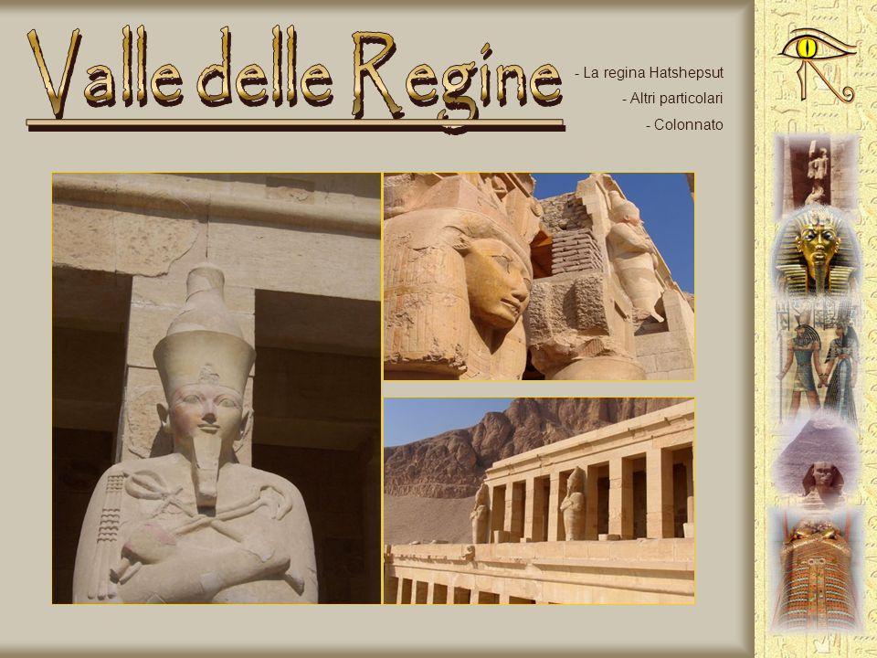 Valle delle Regine La regina Hatshepsut Altri particolari Colonnato