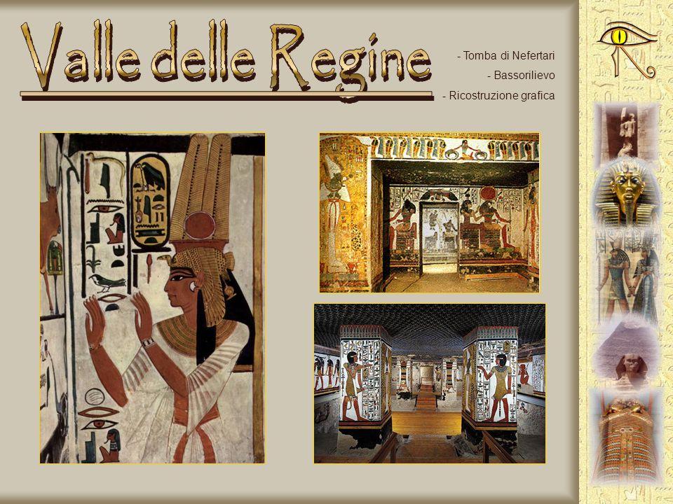 Valle delle Regine Tomba di Nefertari Bassorilievo